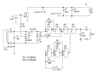 схемы металлоискателей на микросхемах