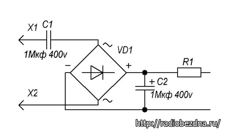 схема устройства светодиодной