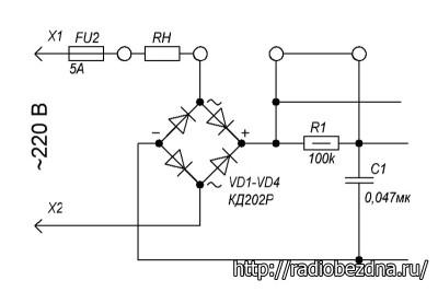 схема включения эл. двигателя