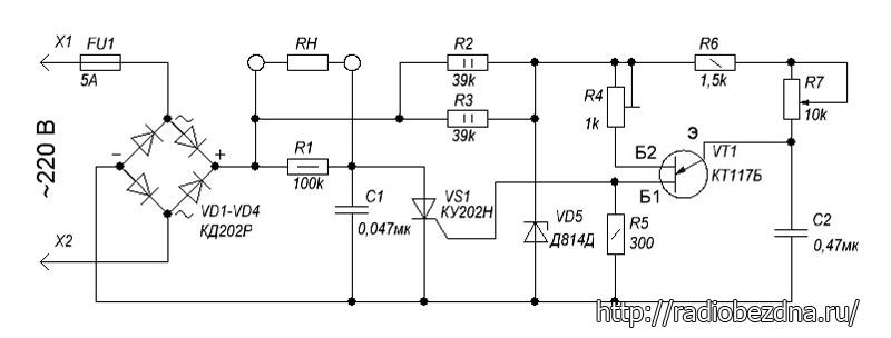 Кт117 схема регулятора