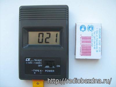 размер термометра